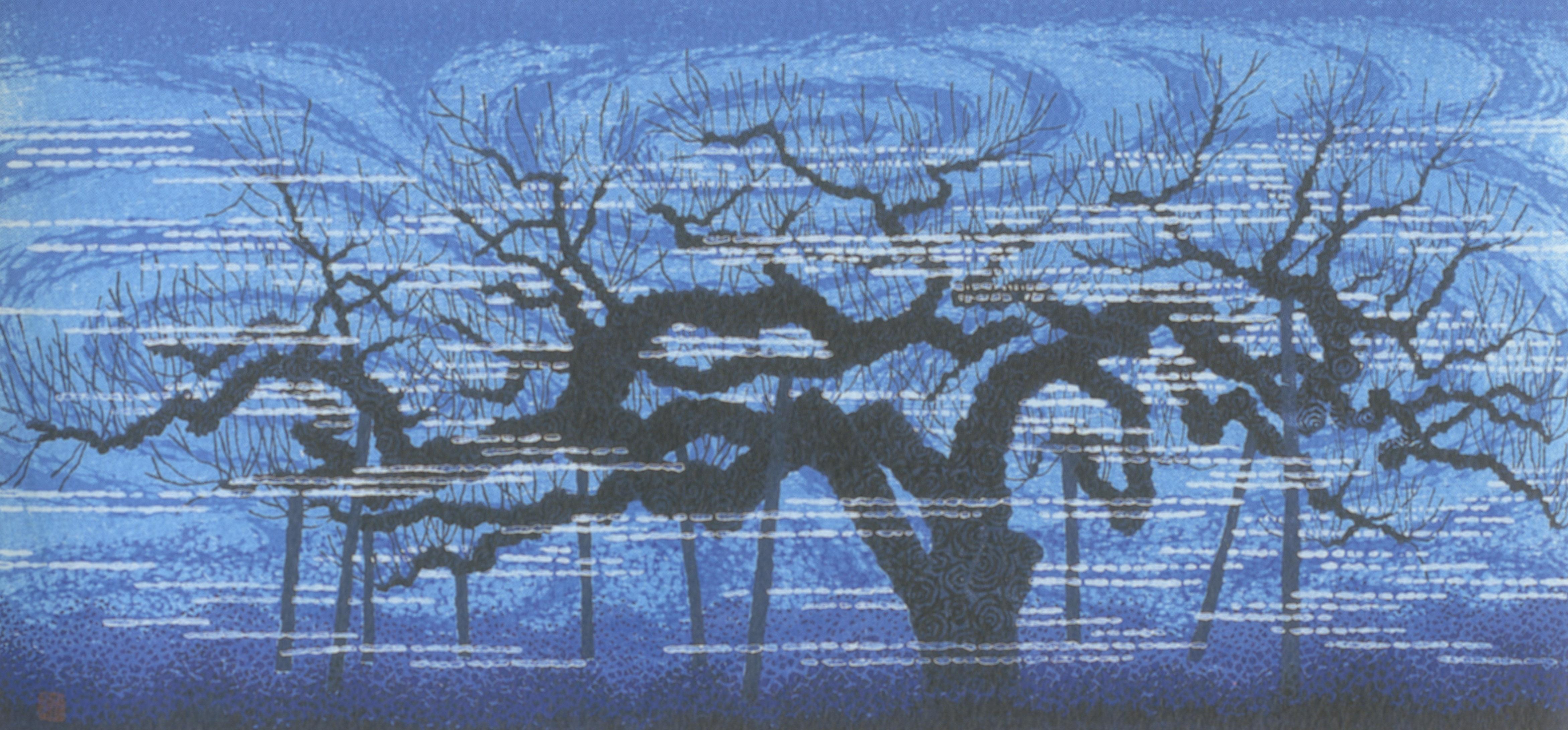 ふるさとの物語 第41回 版画「長寿林檎」~老いて息づく命の強さ~