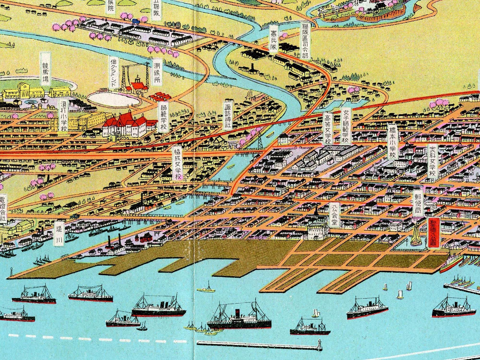 ふるさとの物語 第58回「吉田初三郎の鳥瞰図」~5基の突堤「幻の港」~